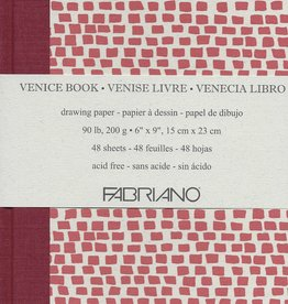 "Fabriano Venice Sketch Book, Drawing Paper, 48 sheets, 9"" x 12"", 90#/200gsm"