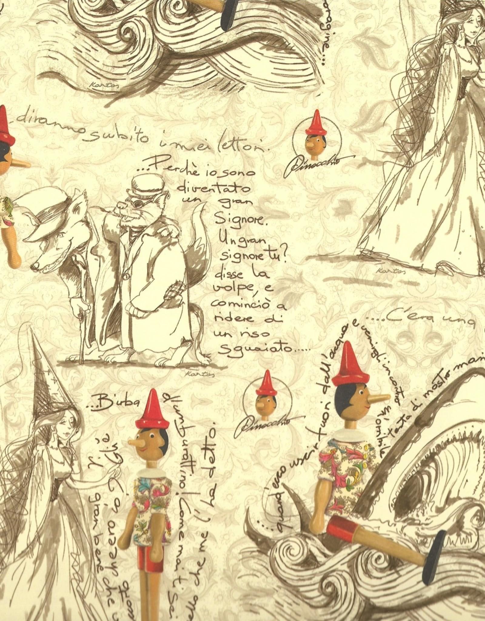 """Italian Florentine, Pinocchio's Adventures, 18"""" x 27"""""""