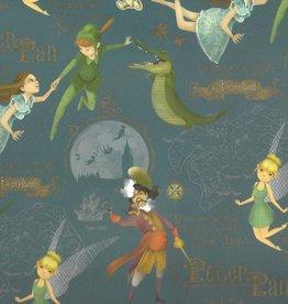 "Italian Florentine, Peter Pan in Neverland, 18"" x 27"""