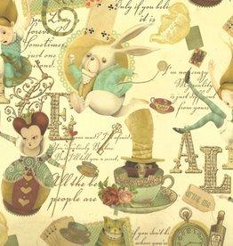"Italian Florentine, Alice in Wonderland, 18.5"" x 27"""