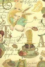 "Italian Florentine, Alice in Wonderland, 27"" x 36"""
