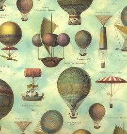"""Italian Florentine, Hot Air Balloons Up, Up, and Away, 27"""" x 36"""""""