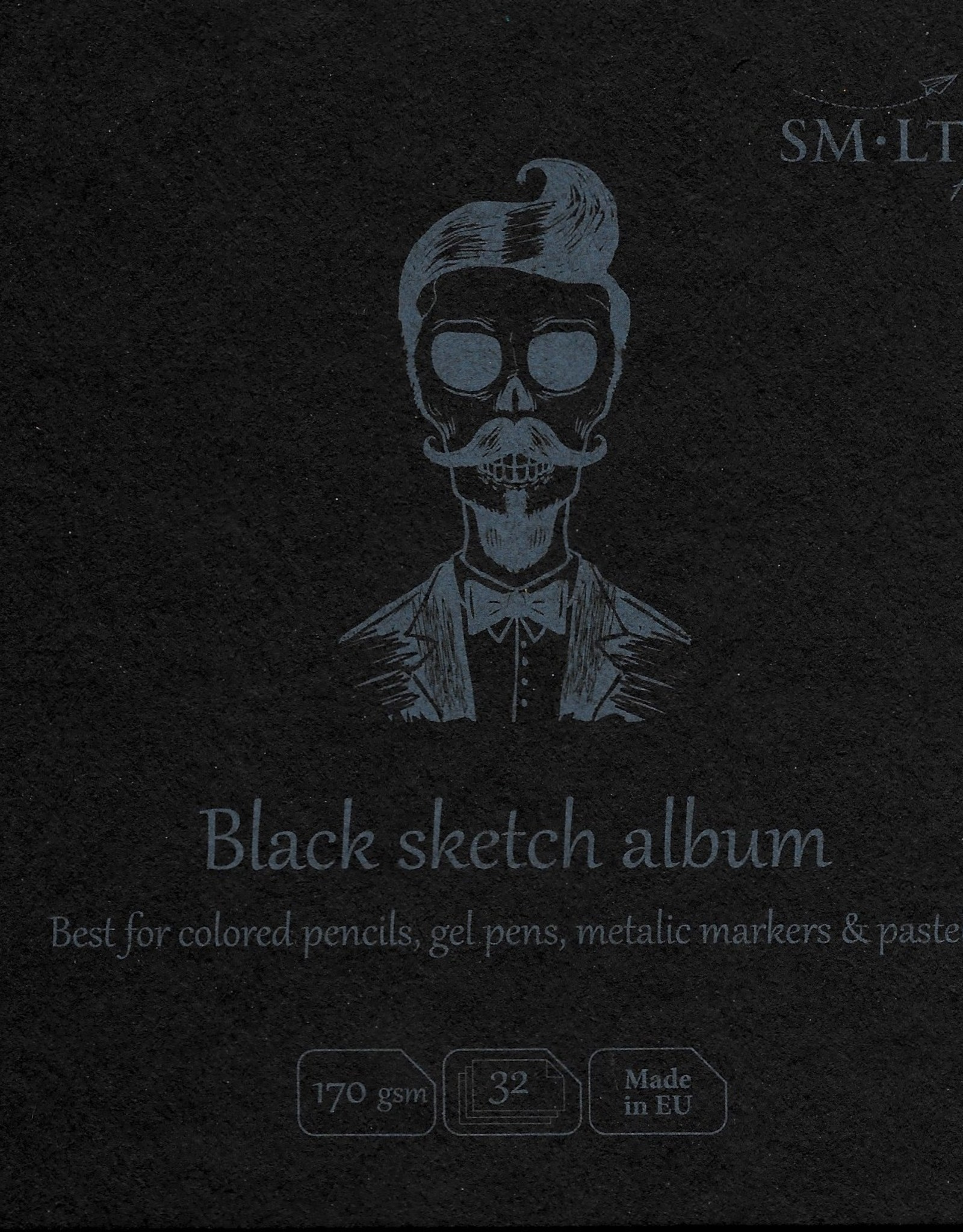 "SMLT Layflat Black Sketch Album, 5.5"" x 5.5"", 170gsm, 32 Sheets"