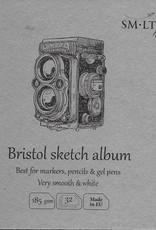 "SMLT Layflat Bristol Sketch Album, White, 5.5"" x 5.5"", 182gsm, 32 Sheets"