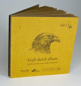 "SMLT Layflat Kraft Sketch Album, 5.5"" x 5.5"", 90gsm, 48 Sheets"