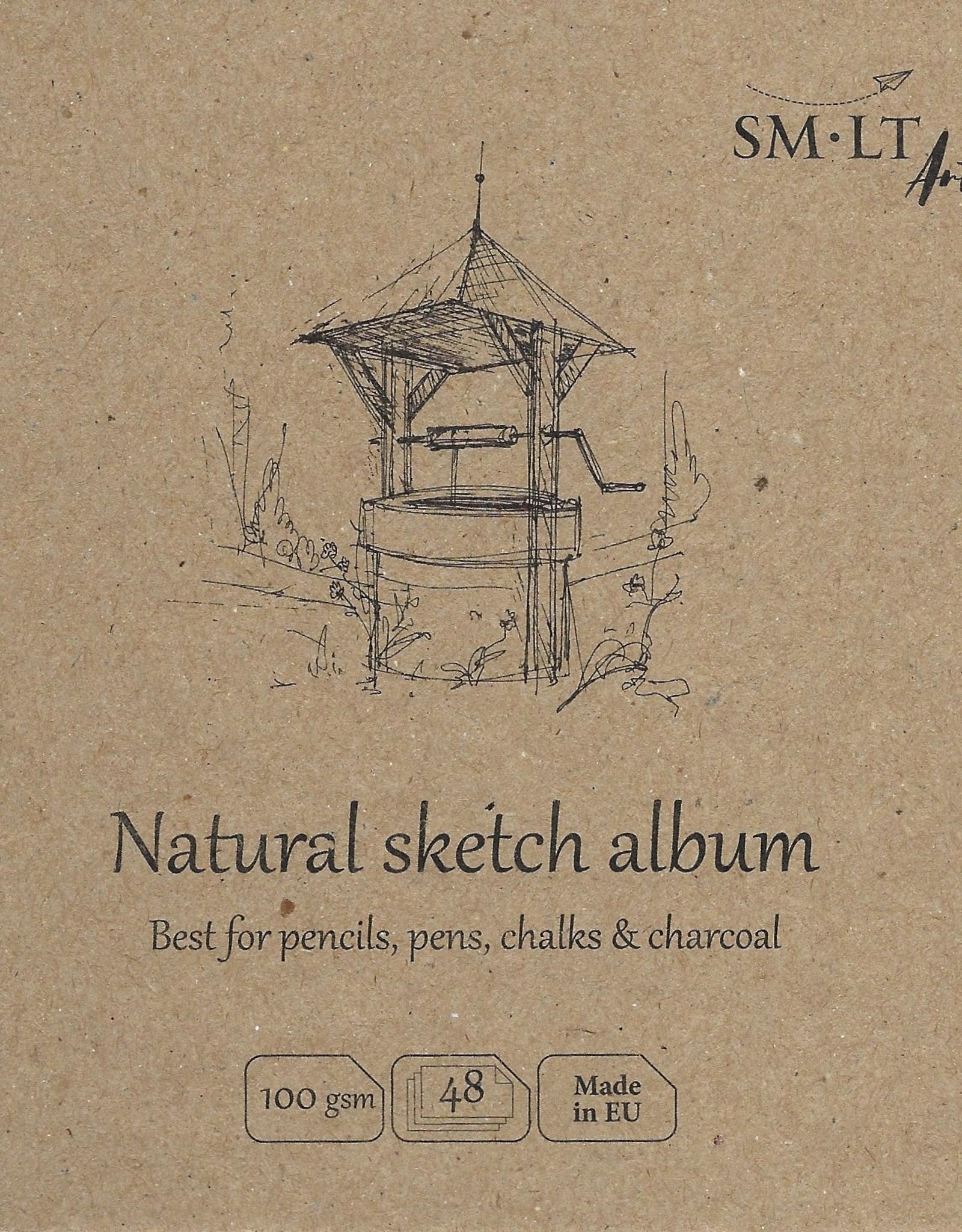 "SMLT Layflat Natural Sketch Album, 5.5"" x 5.5"", 100gsm, 48 Sheets"