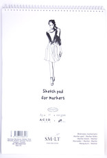 """SMLT Marker Pad, White Smooth, 11.75"""" x 16.5"""" A3, 100gsm, 50 Sheets"""