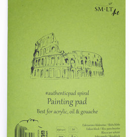 """SMLT Acrylic and Oil Painting Pad, White, 11.75"""" x 16.5"""" A3, 290gsm, 20 Sheets"""