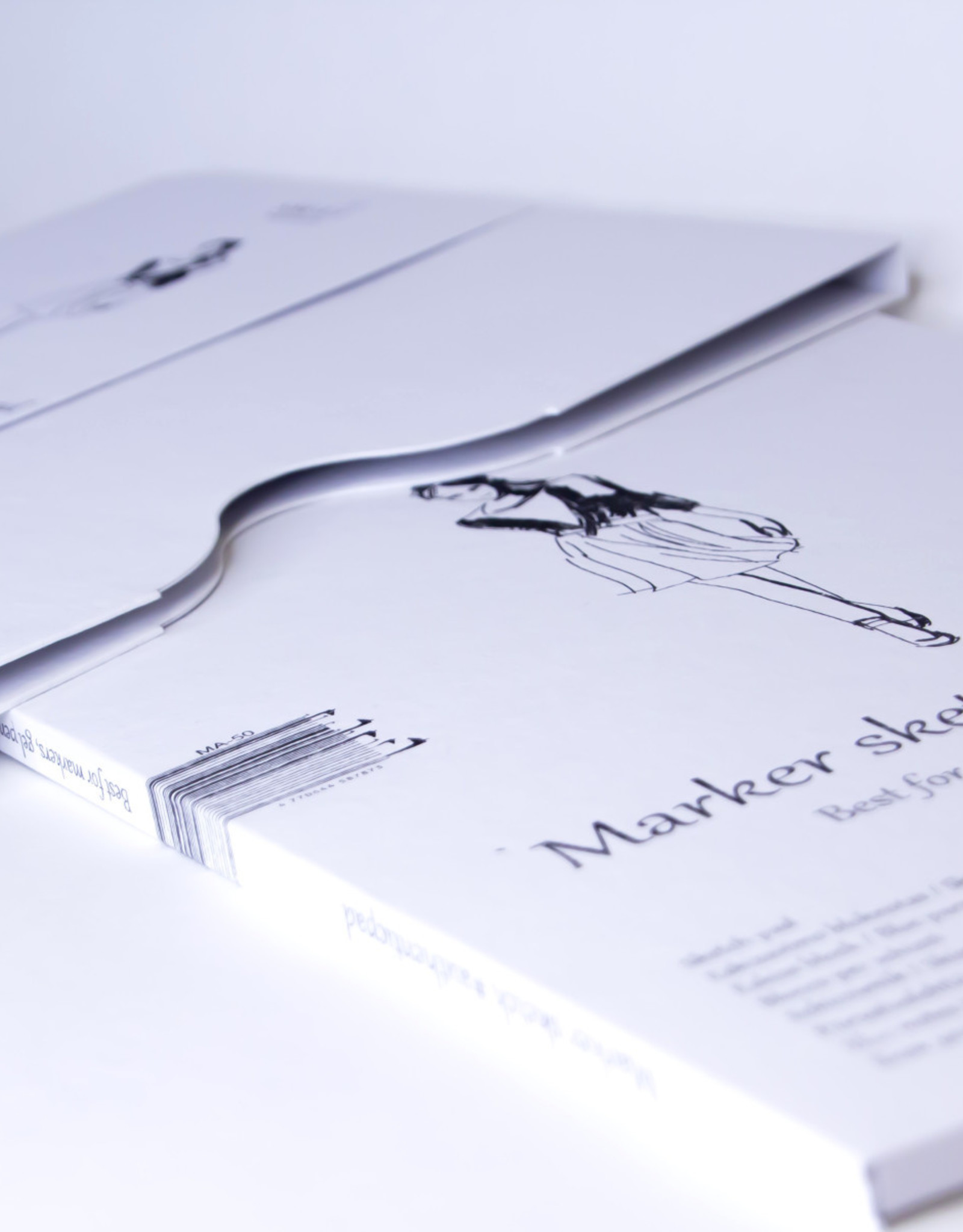 """SMLT Marker Pad, White Smooth, 8.25"""" x 11"""" A4, 100gsm, 50 Sheets"""