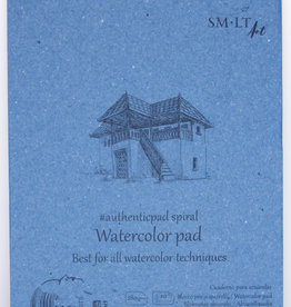 """SMLT Watercolor Pad, White, 5.75"""" x 7.5"""" A5, 280gsm, 20 Sheets"""