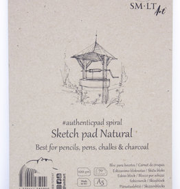 """SMLT Sketch Pad Authentic, Natural, 5.75"""" x 7.5"""" A5, 100gsm, 70 Sheets"""