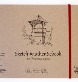 """SMLT Stitched Natural Sketch Book, 9.6"""" x 6.9"""", 100gsm, 32 Sheets"""