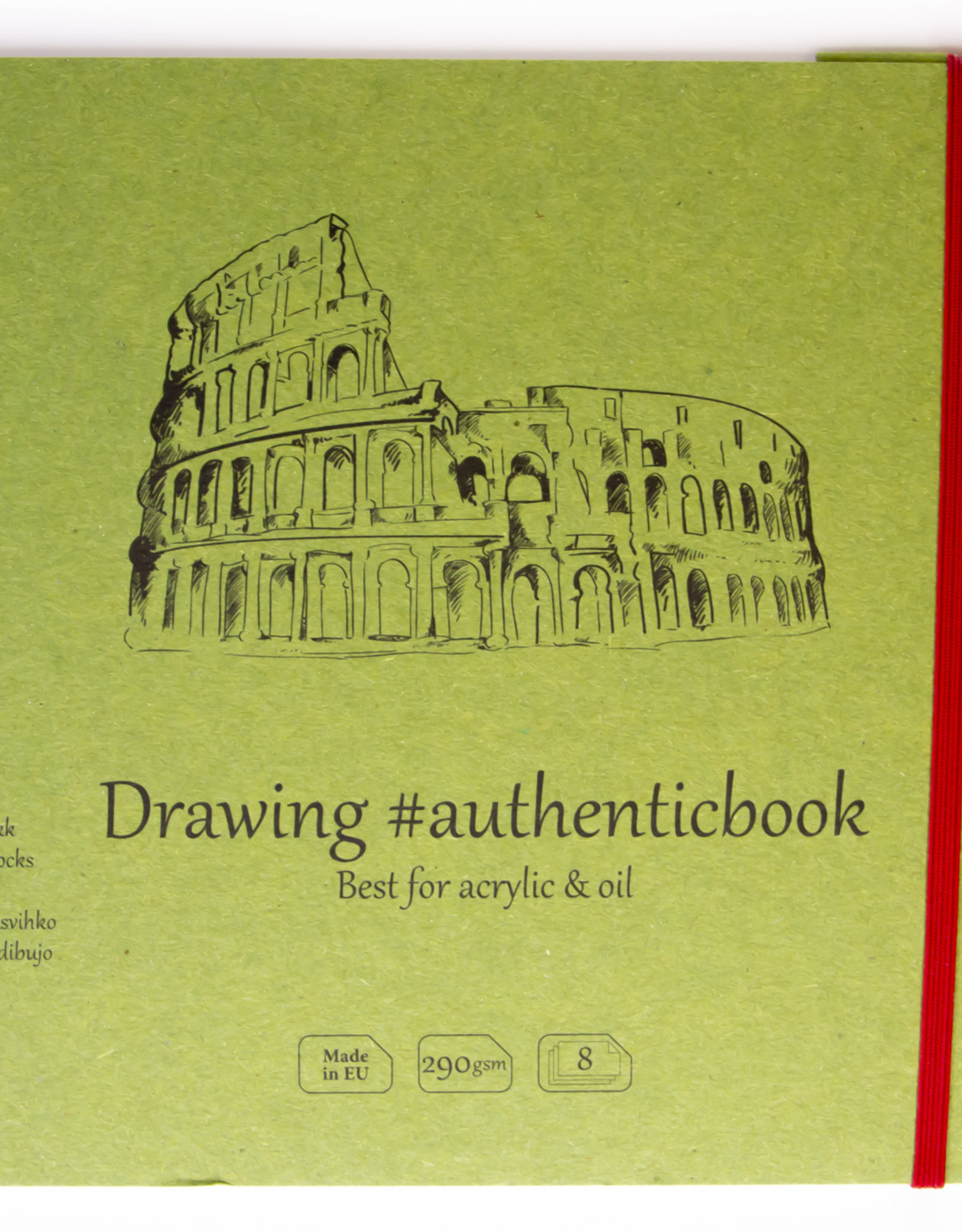 """SMLT Stitched Oil and Acrylic Book, 9.6"""" x 6.9"""", 290gsm, 8 Sheets"""