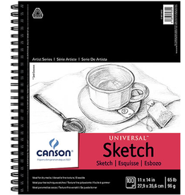 """Canson, Universal Sketch Book, 65#, 11"""" x 14"""", 100 Sheets"""
