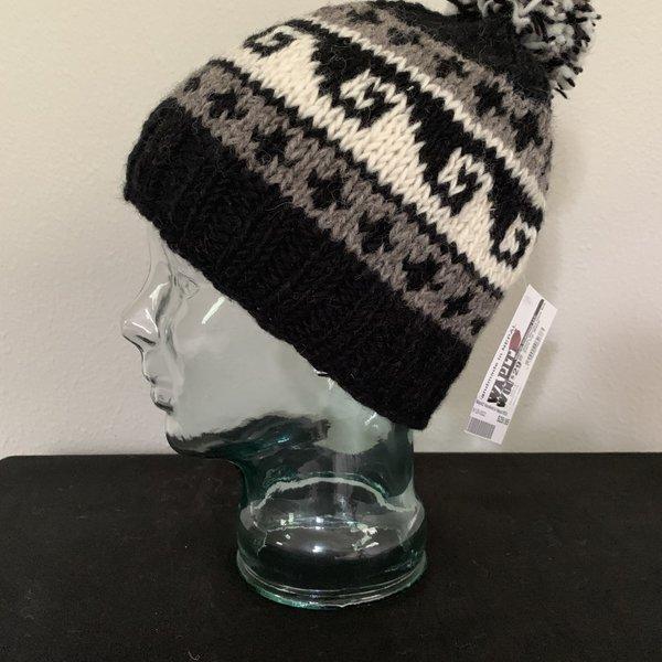 Wapiti Woolies Wapiti Woolies Hand Knit Snow Cap (Black)