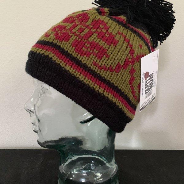 Wapiti Woolies Wapiti Woolies Hand Knit Snow Cap (Black/Green)