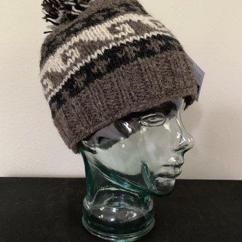 Wapiti Woolies Wapiti Woolies Hand Knit Snow Cap (Dark Brown)