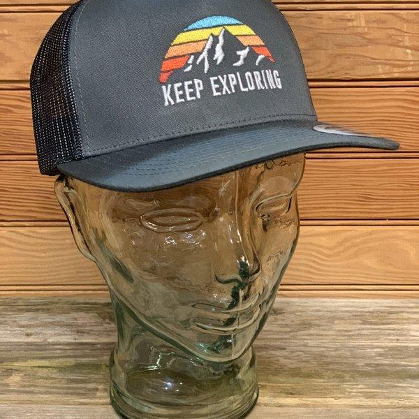 Keep Exploring Trucker Hat (Charcoal)