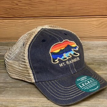 Mt. Rainier Youth Grizzly Bear Trucker Hat -