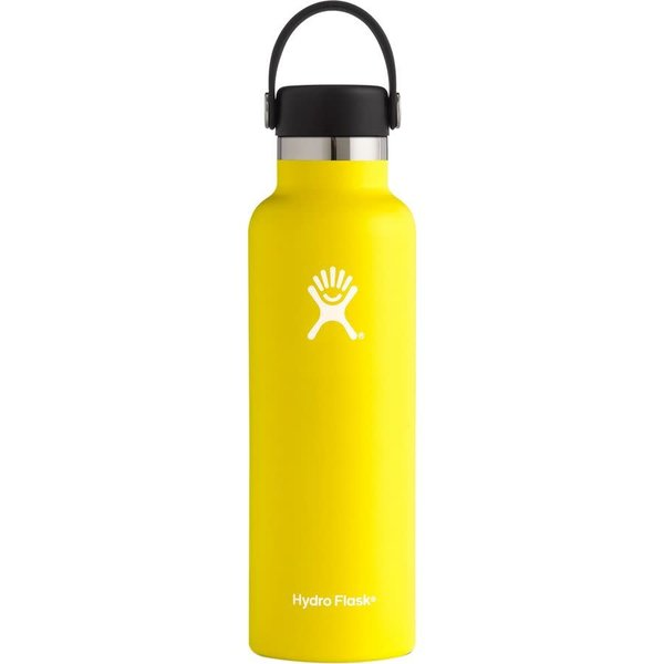 Hydro Flask 21 Oz Standard Mouth w/ Flex Cap - Lemon