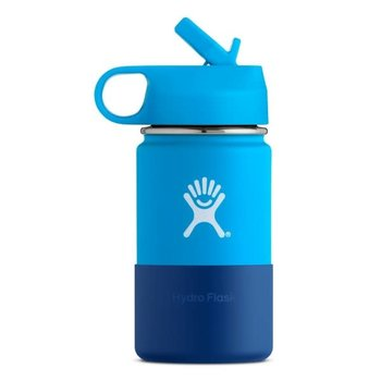 Hydro Flask 12 Oz Wide Mouth w/ Straw Lid & Boot - Pacific