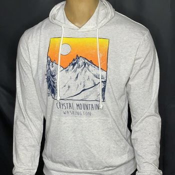 Crystal Mountain L/S Oatmeal Hooded Tee