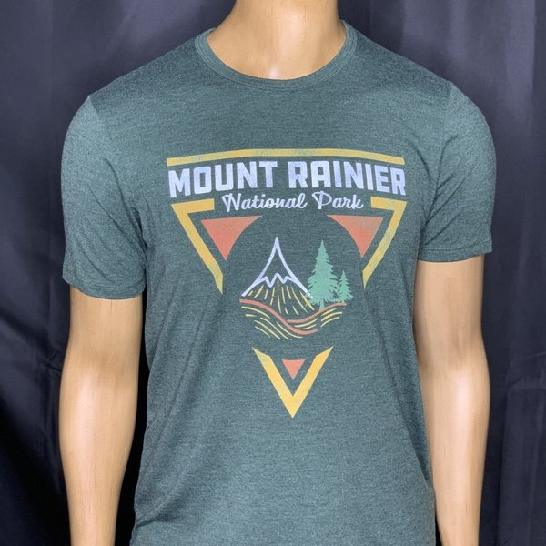 Mt Rainier Triangle T-Shirt