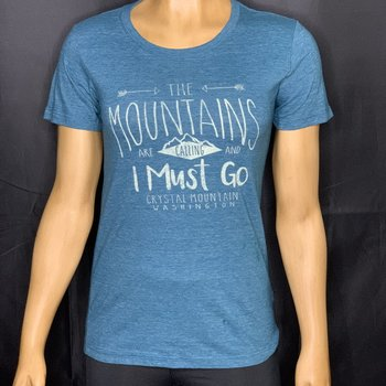 Crystal Mountain Clothing and Collectables Mountains are Calling and I Must Go - Crystal Mountain Tee