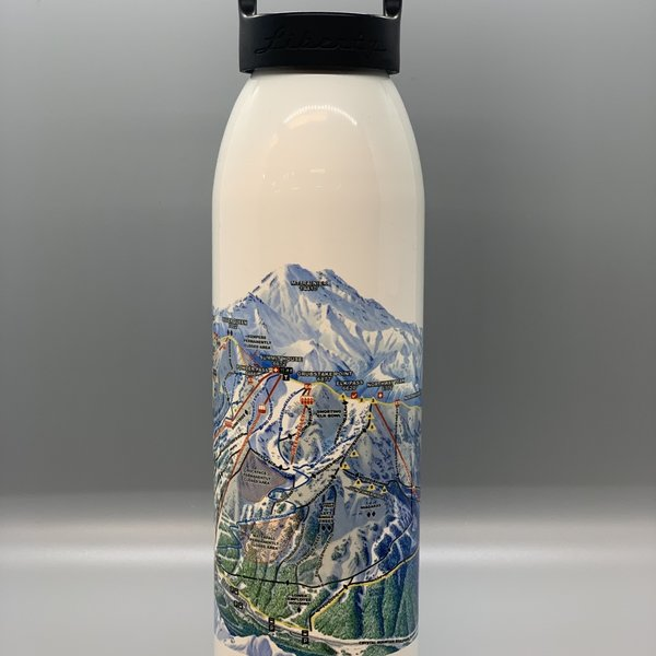 Crystal Mountain Clothing and Collectables Crystal Mountain 24 Oz Bottle - White