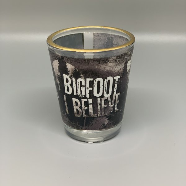 Bigfoot I Believe Shot Glass