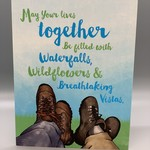 Hiker's Wedding Card