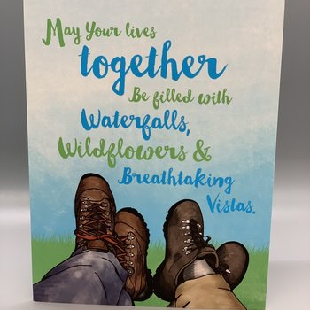 Hiker's Wedding Card