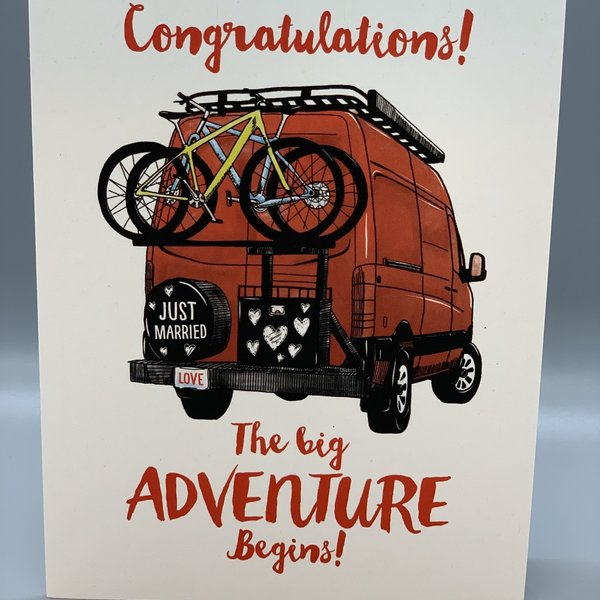 Adventure Begins Wedding Card