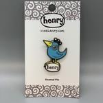 It's a Henry Blue Bird Enamel Pin