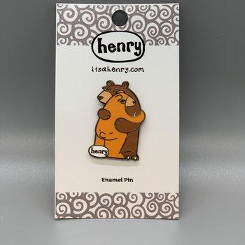 It's a Henry Bear Hug Enamel Pin