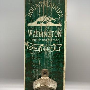 Wooden Mt. Rainier Bottle Opener
