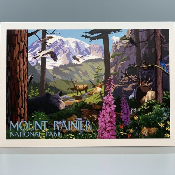Mount Rainier Clothing and Collectables Mt. Rainier Mountains are Calling 9x12 Print