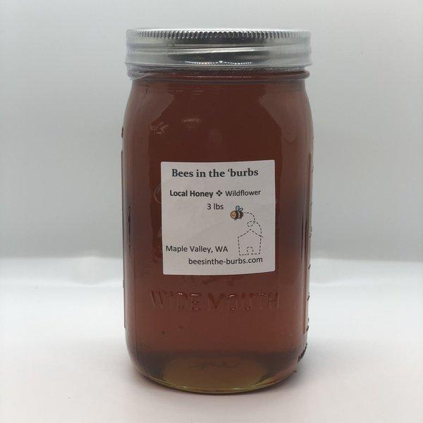 3lb Glass Jar of Honey