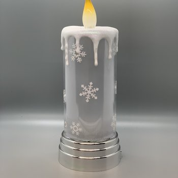 Lighted Snowflake Candle (Battery Operated)