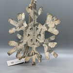 Distressed White Hanging Snowflake