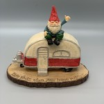 Gnome on Top of Camper