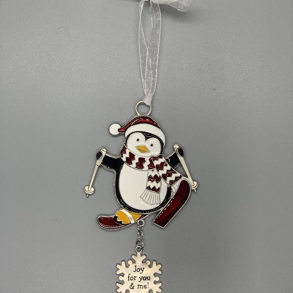 Joy For You and Me Penguin Ornament