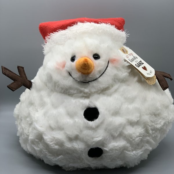 """Melted Plush Snowman 10"""""""