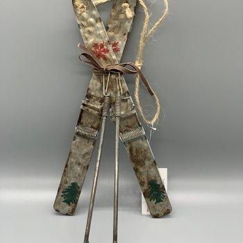 Ski Ornament Metal
