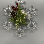 "Pine Owl Snowflake Ornament 4.5"""