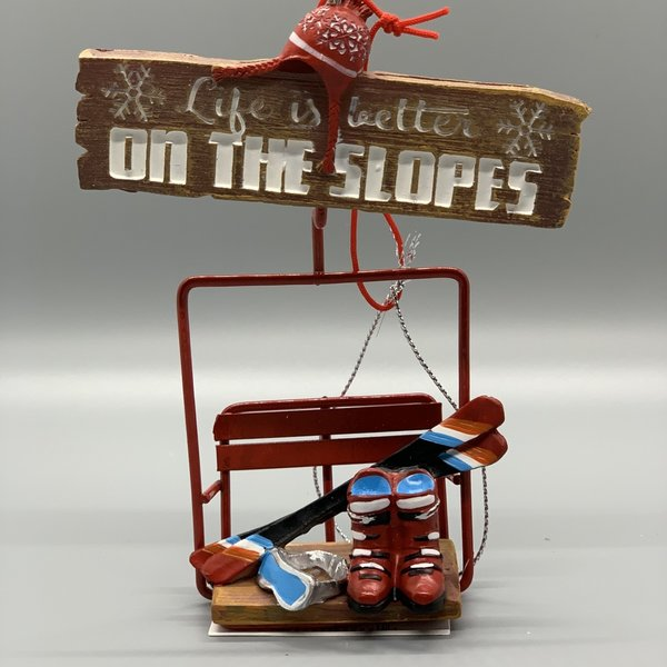 Life is Better on the Slopes Ornament