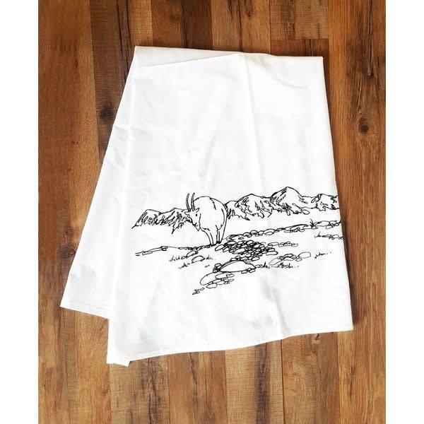 Mountain Goat Tea Towel