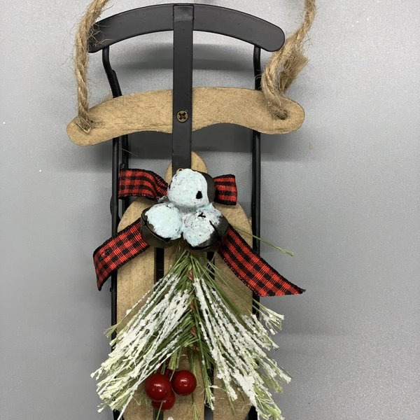 Wooden Sled Ornaments