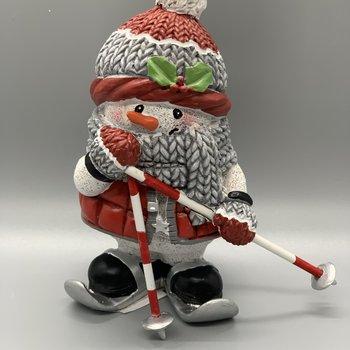 Snowman on Skis Figurine