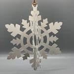 Large White Enamel Snowflake
